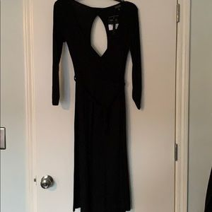 Topshop size 6 black faux wrap dress, NWT!!